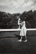 Photographs:Contemporary, JACQUES LOWE (American, 1930-2001). Jackie and Caroline .Gelatin silver, vintage print. Paper: 14 x 11 inches (35.6 x 2...