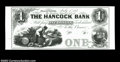 "Ellsworth, ME-The Hancock Bank $1 G2 Wait-11. A ""Modern Proof"" on a thick card made for test purposes. A sharp..."