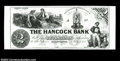 "Ellsworth, ME-The Hancock Bank $2 G4 Wait-12 A ""Modern Proof"" on thick card. A real gem. Uncirculated"