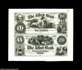 Alfred, ME-The Alfred Bank $10-20 G10-12 Wait 8-10 Uncut Proof Sheet A second intact archival proof sheet, on India pape...