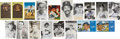 Autographs:Post Cards, Baseball Stars Signed Postcards And Plaques Lot Of 18....