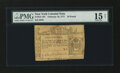 Colonial Notes:New York, New York February 16, 1771 Counterfeit £10 PMG Choice Fine 15Net....