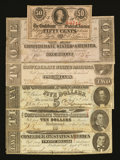 Confederate Notes:Group Lots, Mixed Lot of Different 1863 Confederate Notes. Six Examples.. ...(Total: 6 notes)