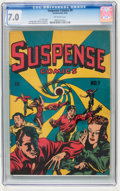 Golden Age (1938-1955):Horror, Suspense Comics #9 (Continental Magazines, 1945) CGC FN/VF 7.0Off-white pages....