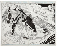 John Romita Jr. and Al Williamson Spider-Man #74 Double Splash Page 7 and 8 Original Art (Marvel, 1996)