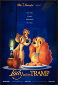 "Movie Posters:Animated, Lady and the Tramp (Buena Vista, R-1996). One Sheet (27"" X 40"") DS.Animated.. ..."