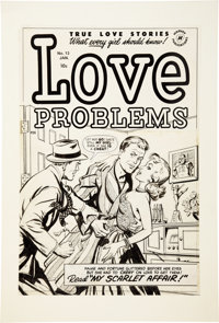 True Love Problems and Advice Illustrated #13 Cover Original Art (Harvey, 1952)