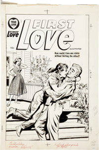 First Love Illustrated Cover Original Art (Harvey, circa 1952)
