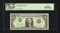 Error Notes:Inverted Third Printings, Fr. 1908-J $1 1974 Federal Reserve Note. PCGS Gem New 66PPQ....