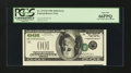 Error Notes:Inverted Third Printings, Fr. 2175-B $100 1996 Federal Reserve Note. PCGS Gem New 66PPQ....