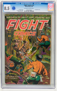 Fight Comics #31 (Fiction House, 1944) CGC VF+ 8.5 Off-white to white pages