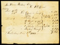 Fractional Currency:Fifth Issue, Francis E. Spinner 8 by 6 inch 1823 Receipt.. ...