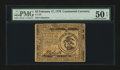 Colonial Notes:Continental Congress Issues, Continental Currency February 17, 1776 $3 PMG About Uncirculated 50EPQ....