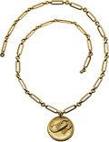 Estate Jewelry:Necklaces, Gold Pendant-Necklace. ...