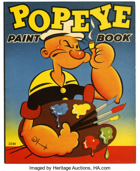 Popeye Paint Book #2081 Coloring Book (Whitman, 1937) Condition ...