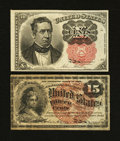 Fractional Currency:Fifth Issue, Two Fractional Types.... (Total: 2 notes)