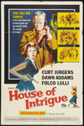 "Movie Posters:Drama, The House of Intrigue (Allied Artists, 1959). One Sheet (27"" X 41""). Drama.. ..."