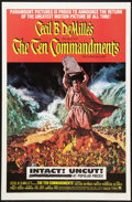 "Movie Posters:Historical Drama, The Ten Commandments (Paramount, R-1966). One Sheet (27"" X 41"").Historical Drama.. ..."