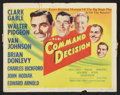 "Movie Posters:War, Command Decision (MGM, 1948). Lobby Card Set of 8 (11"" X 14"").War.. ... (Total: 8 Items)"