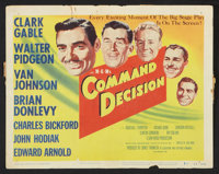 "Command Decision (MGM, 1948). Lobby Card Set of 8 (11"" X 14""). War. ... (Total: 8 Items)"