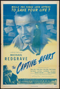 "Movie Posters:War, The Captive Heart (Universal, 1947). One Sheet (27"" X 41""). War....."
