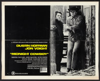 "Midnight Cowboy (United Artists, 1969). Half Sheet (22"" X 28"") X-Rated Style. Academy Award Winners"