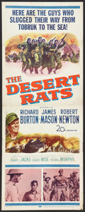 "Movie Posters:War, The Desert Rats (20th Century Fox, 1953). Insert (14"" X 36""). War....."