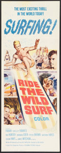 """Movie Posters:Sports, Ride the Wild Surf (Columbia, 1964). Insert (14"""" X 36""""). Sports.. ..."""