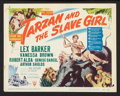 "Movie Posters:Adventure, Tarzan and the Slave Girl (RKO, 1950). Lobby Card Set of 8 (11"" X14""). Adventure.. ... (Total: 8 Items)"