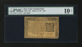 Colonial Notes:New York, New York March 5, 1776 $1/6 PMG Very Good 10 Net....