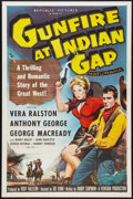 "Movie Posters:Western, Gunfire at Indian Gap Lot (Republic, 1957). One Sheets (2) (27"" X 41"") Flat Folded. Western.. ... (Total: 2 Items)"