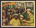 "Movie Posters:Adventure, Law of the Jungle Lot (Monogram, 1942). Title Lobby Card and LobbyCards (2) (11"" X 14""). Adventure.. ... (Total: 3 Items)"