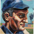Baseball Collectibles:Others, Honus Wagner Original Oil Painting....