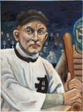 Baseball Collectibles:Others, Ty Cobb Original Oil Painting....