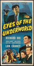 "Movie Posters:Crime, Eyes of the Underworld (Universal, 1943). Three Sheet (41"" X 81"").Crime.. ..."