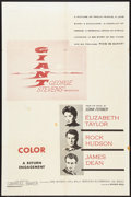 "Movie Posters:Drama, Giant (Warner Brothers, R-1960s). Military One Sheet (27"" X 41""). Drama.. ..."
