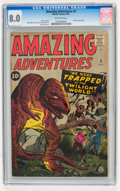 Silver Age (1956-1969):Horror, Amazing Adventures #3 (Marvel, 1961) CGC VF 8.0 Off-white pages....