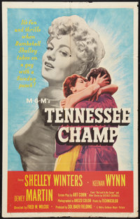 "Tennessee Champ (MGM, 1954). One Sheet (27"" X 41"") and Lobby Card Set of 8 (11"" X 14""). Drama. ... (..."