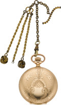 Timepieces:Pocket (pre 1900) , Elgin 6 Size Hunters Case With Chain, circa 1899. ...