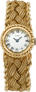 Timepieces:Wristwatch, Swiss Ladies Gold Bracelet Wristwatch, circa 1975. ...
