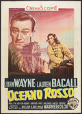 "Movie Posters:Action, Blood Alley (Warner Brothers, 1955). Italian 2 - Foglio (39"" X55""). Action.. ..."