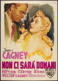 "Movie Posters:Film Noir, Kiss Tomorrow Goodbye (Warner Brothers, 1951). Italian 2 - Folio(39"" X 55""). Film Noir.. ..."