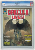 Magazines:Horror, Dracula Lives! #1 (Marvel, 1973) CGC NM+ 9.6 White pages....