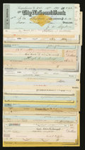 Miscellaneous:Other, Mixed Lot of 32 Cancelled Checks or other Bank Documents from theEarly 1900s.. ... (Total: 32 notes)