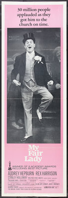"""My Fair Lady (Warner Brothers, 1964 and R-1971). Door Panel (20"""" X 60'), Lobby Cards (4) (11"""" X 14""""), Pre..."""