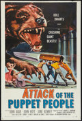 """Movie Posters:Science Fiction, Attack of the Puppet People (American International, 1958). OneSheet (27"""" X 40.25""""). Science Fiction.. ..."""