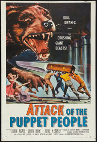 """Attack of the Puppet People (American International, 1958). One Sheet (27"""" X 40.25""""). Science Fiction"""