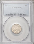 Seated Dimes: , 1877-S 10C MS64 PCGS. PCGS Population (28/12). NGC Census: (23/21). Mintage: 2,340,000. Numismedia Wsl. Price for problem f...