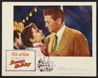 """Roman Holiday (Paramount, R-1960 and R-1962). Lobby Cards (7) (11"""" X 14"""") and Pressbook (Multiple Pages, 12&qu..."""