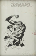 Original Comic Art:Illustrations, Joe Kubert Tarzan vs. Kerchak Illustration Original Art (1971)....